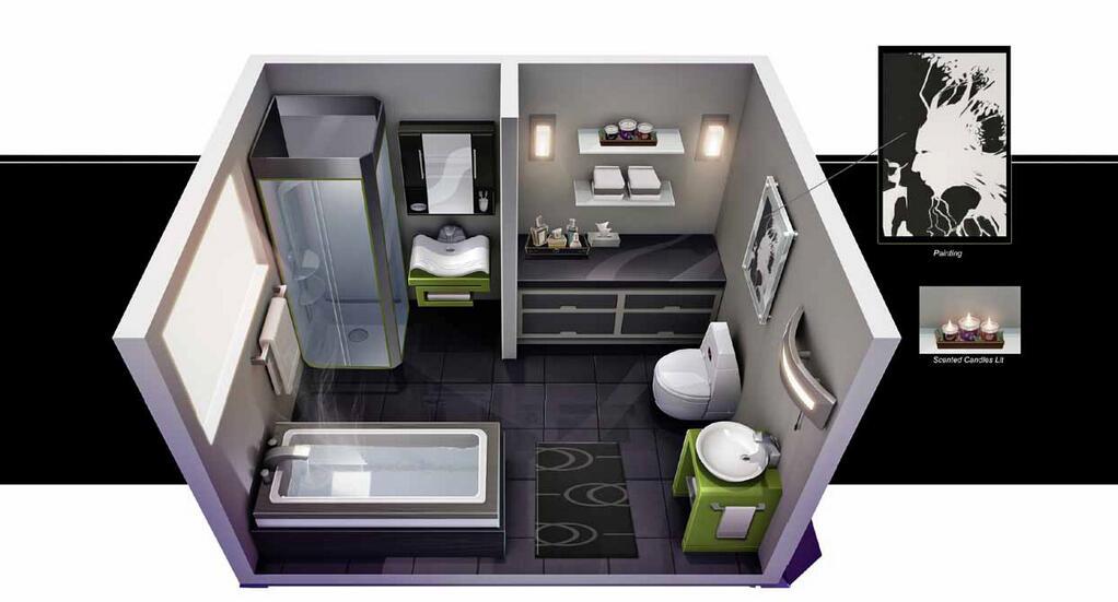 The Sims 4 Bathroom Ideas : Grafiki koncepcyjne dotsim