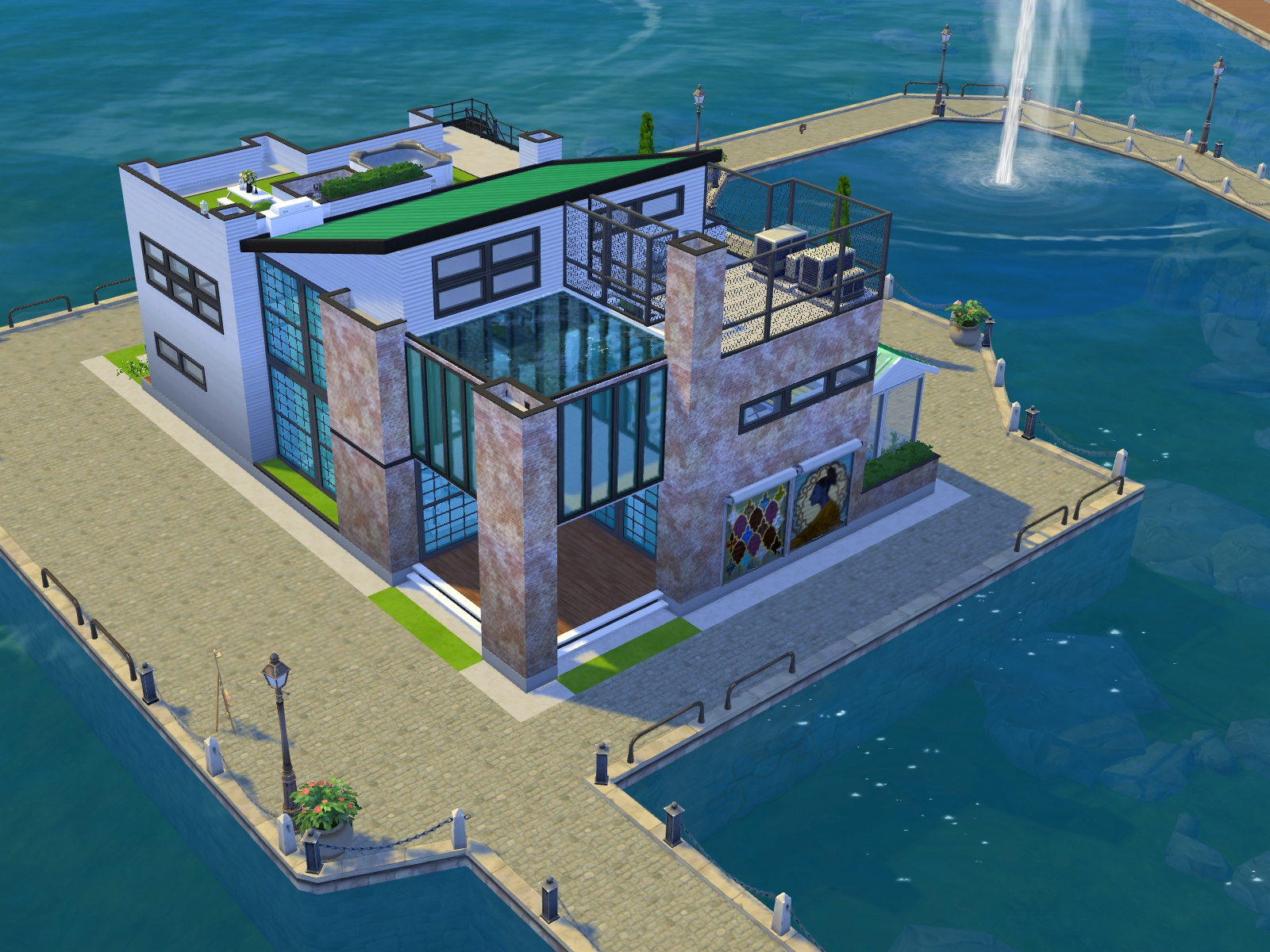 Industrialny loft The Sims 4