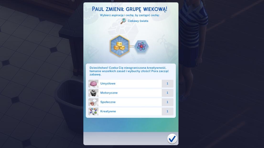 Aspiracje dzieci w The Sims 4