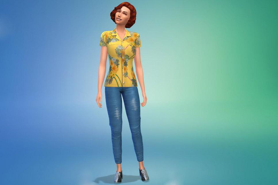 Zdjęcie Stwórz Sima z The Sims 4 Wieczór na kręgielni