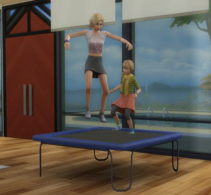 trampolina the sims 4