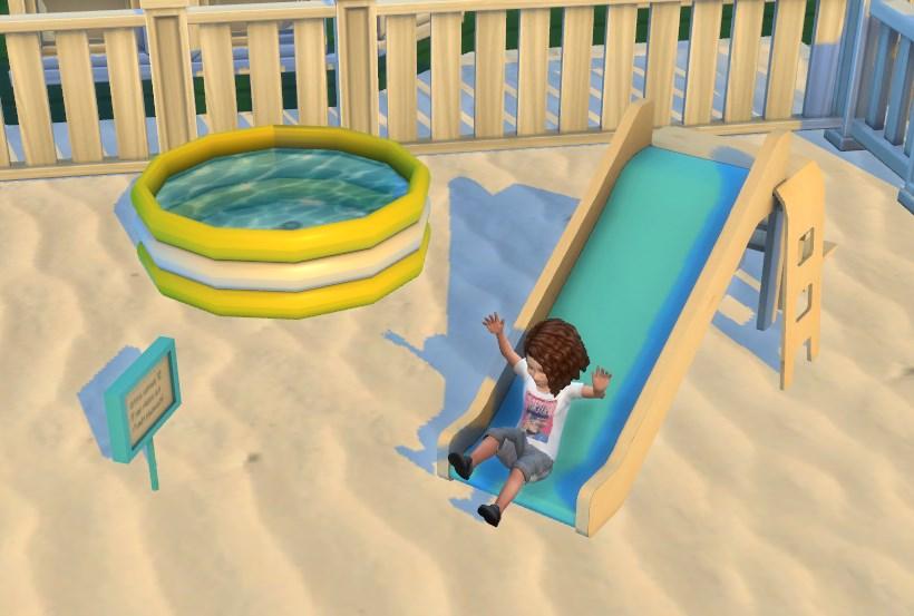 Zjeżdżalnia dla małych dzieci The Sims 4 Modny Piątek