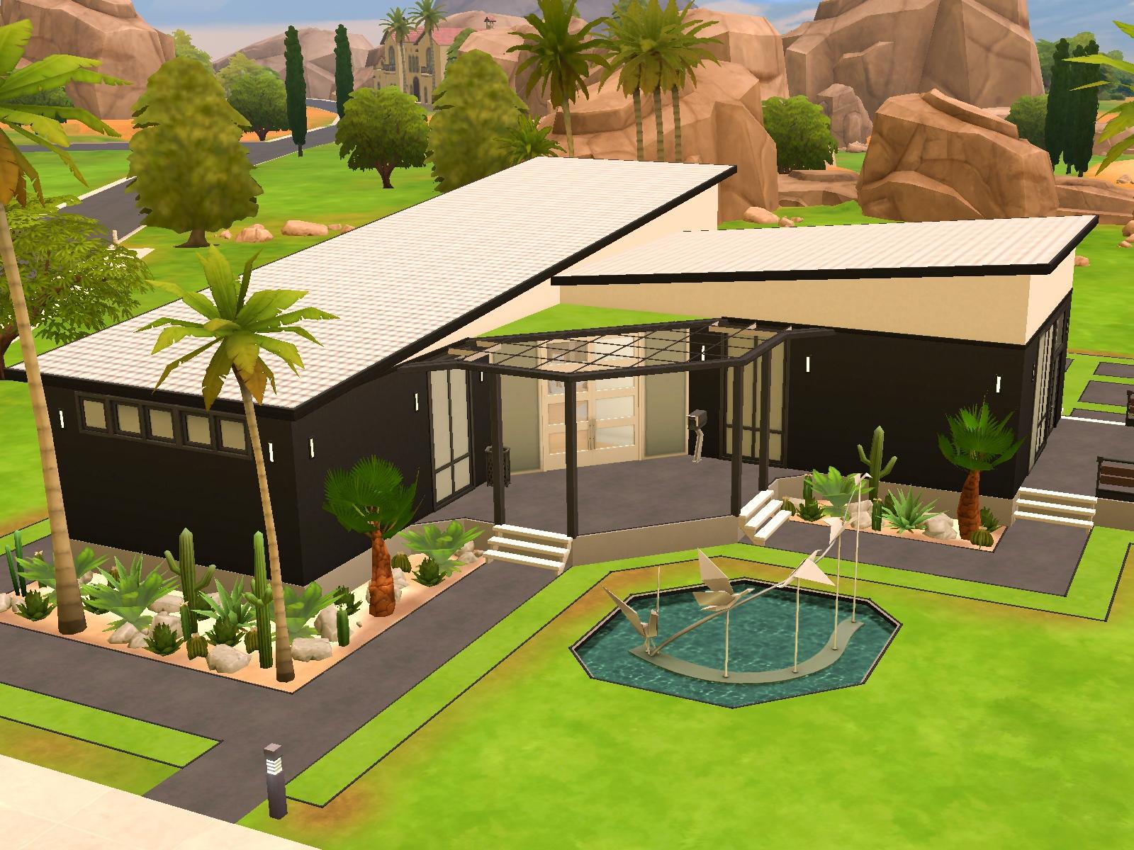 Przegląd Galerii - Domy parterowe w The Sims 4 - DOTsim