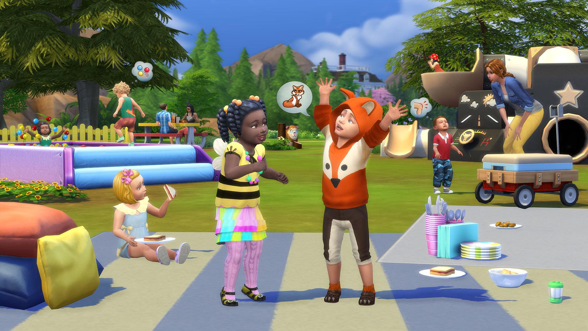 the sims 4 małe dzieci render blog