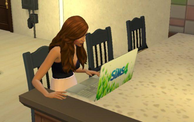 the sims 4 modny piątek laptop