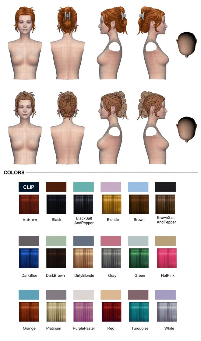 The Sims 4 Wielkie pranie akcesoria fryzura
