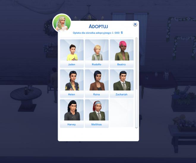 The Sims 4 modny piątek adopcja nastolatka