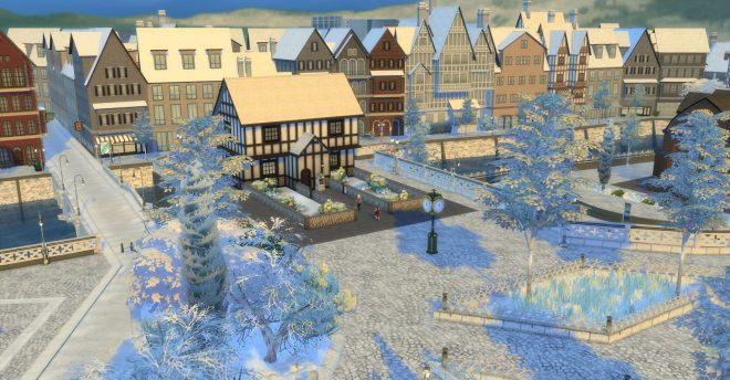 the sims 4 pierwszy śnieg
