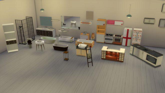 kuchnie i łazienki the sims 4 modny piątek