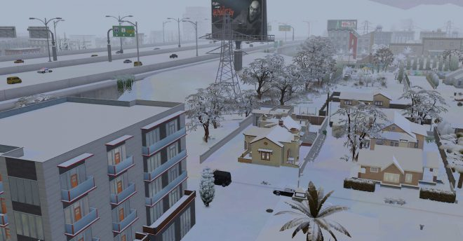The sims 4 śnieg w DEL SOL VALLEY