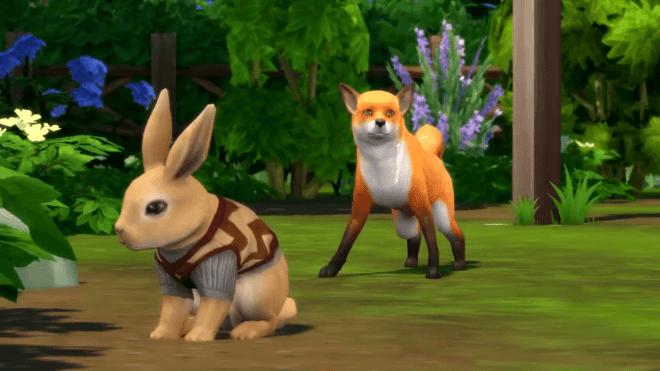 Królik i lis w The Sims 4 Wiejska sielanka