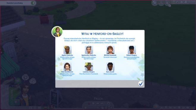 Tablic we Finchwick w The Sims 4 Wiejska sielanka